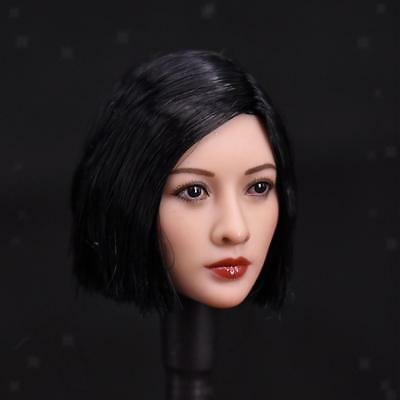 1//6 Scale Female Short Curly Hair Head Sculpture for 12/'/' Hot Toys Figures