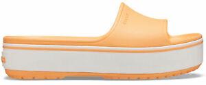 Crocs Femmes Sport Loisirs Tongs Cool Plate-Forme Slide Orange Blanc