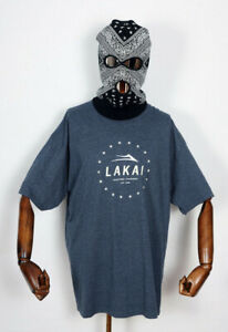 Lakai-Footwear-Skate-Schuhe-Shoes-T-Shirt-Tee-Established-Navy-Heather-in-L