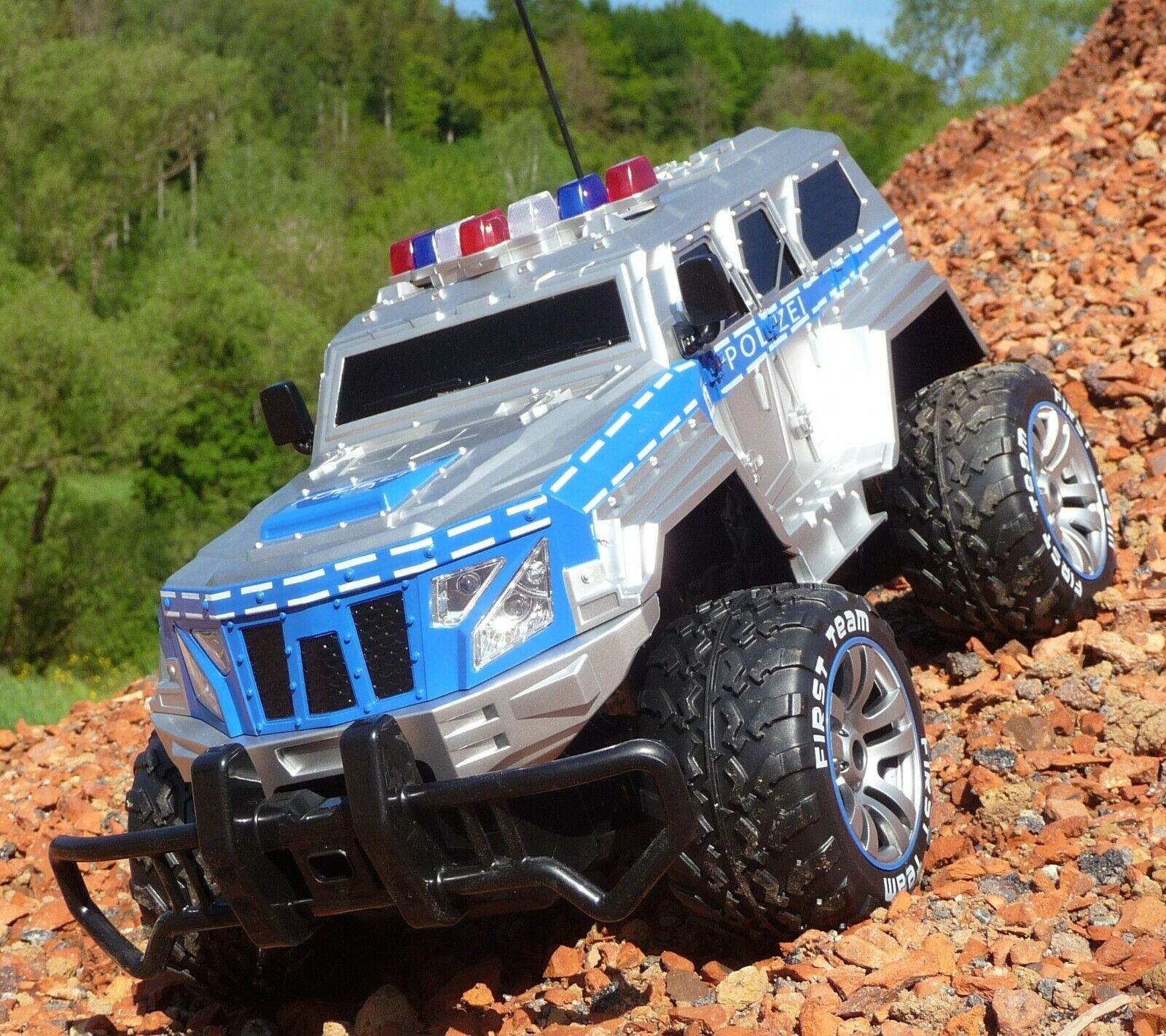 RC Jeep POLIZEI mit LICHT & AKKU 1 12 Länge 39cm Ferngesteuert 27MHz 403170
