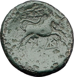 THESSALONICA-in-Macedonia-1stCenBC-Authentic-Ancient-Greek-Coin-ZEUS-BULL-i62299
