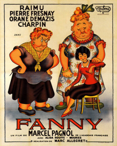 POSTER FANNY FRENCH ROMANCE DRAMA FILM PREGNANT GIRL VINTAGE REPRO FREE S/H