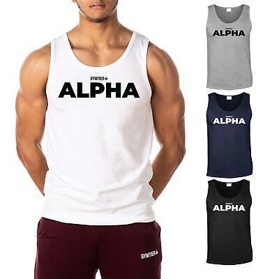 Alpha Brothers Gym Stringer Tank Top TRN HRD Bodybuilding Muscle Workout Racerback Men