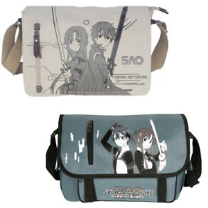 f60b56e786f6 Details about Anime Sword Art Online SAO Kirito Asuna Canvas Bag Messenger  Shoulder Bag Sling