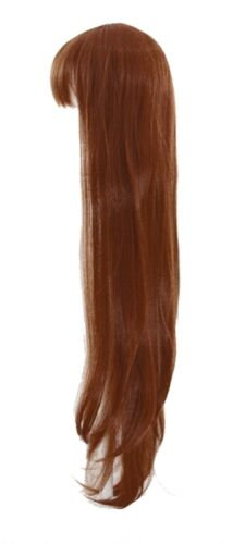 40/'/' Long Straight with Short Bangs Auburn Brown Cosplay Wig NEW