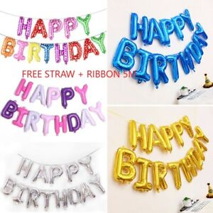 Joyeux-Anniversaire-Ballons-Banniere-Ballon-Bunting-Party-Decoration-Auto-Gonflant