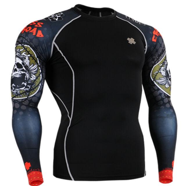 FIXGEAR mens skin compression tight shirts under gear base layer S~ 4XL