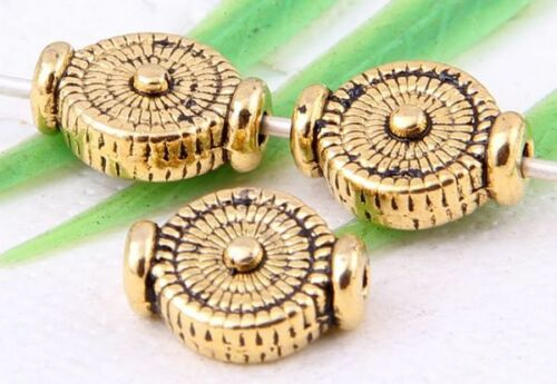 Wholesale 46//110Pcs Tibetan Silver//Gold (Lead-Free)Spacer Beads Findings 10x4mm