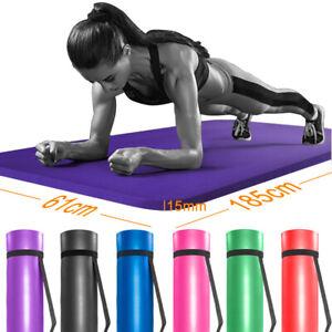 61x 185 Cm Tapis De Yoga 15 Mm épais Gym Exercice Fitness Pilates Entraînement Tapis Antidérapants-afficher Le Titre D'origine Des Biens De Chaque Description Sont Disponibles