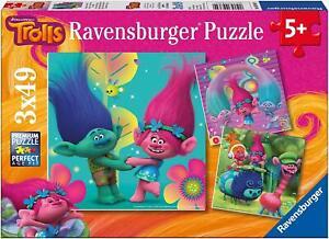 NEW-Ravensburger-Trolls-Colourful-World-3-x-49-piece-jigsaw-puzzle-set-Age-5