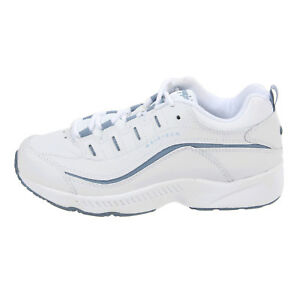 Womens-Easy-Spirit-Romy-Walking-Shoes-White-Blue-Leat-Slip-resistant-All-SZs-NIB