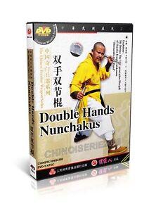 ShaoLin-Kongfu-Chinese-Peculiar-Weapon-Double-Hands-Nunchakus-by-Shi-Debiao-DVD