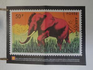 Poster-SPIROU-OXODONTA-AFRICANA-ROYAUME-DU-BURUNDI-SHELL-ttbe-NO-COPY