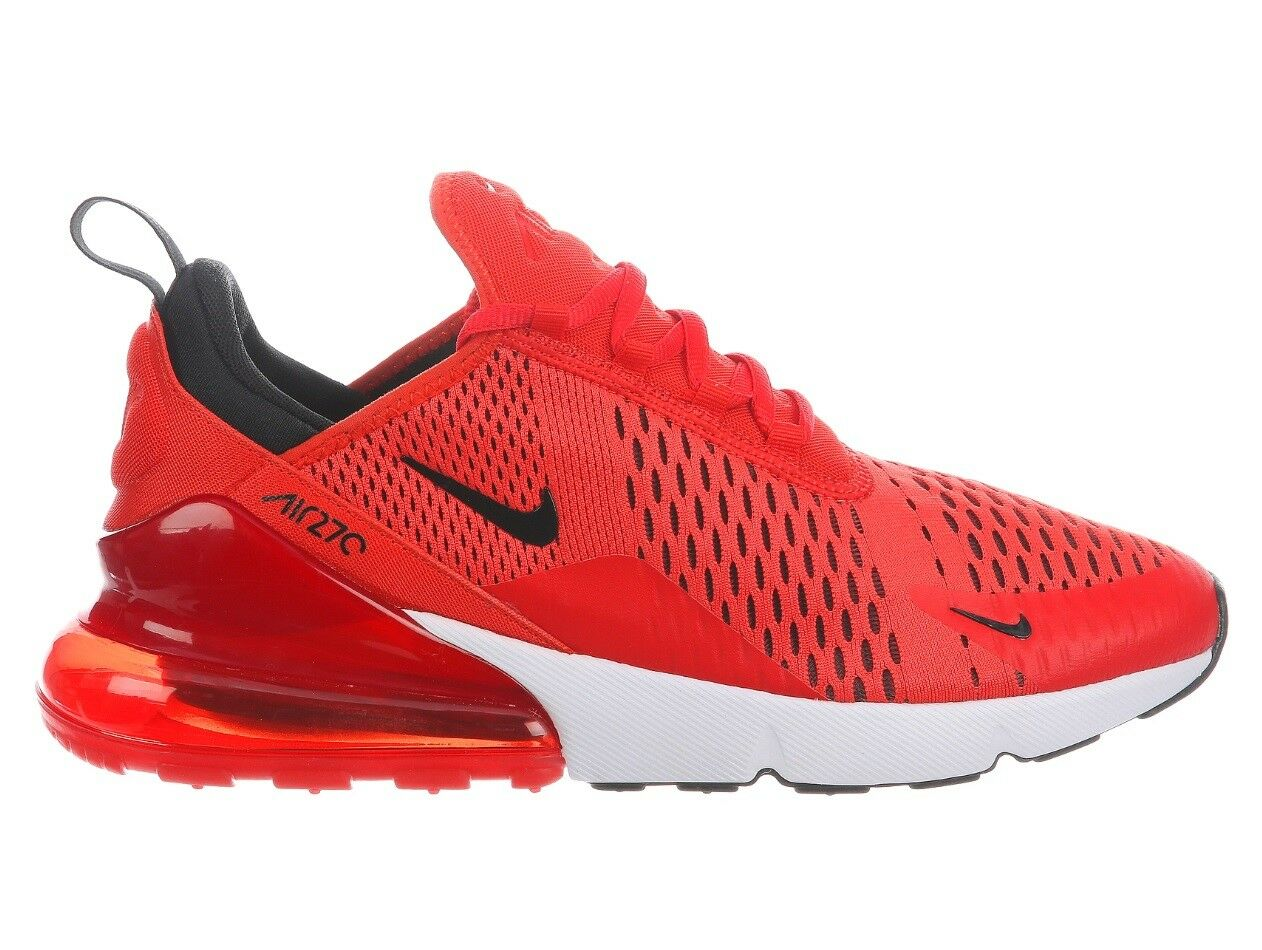 Nike Air Max 270 Habablack Mens AH8050-601 Challenge Red Running shoes Size 8.5