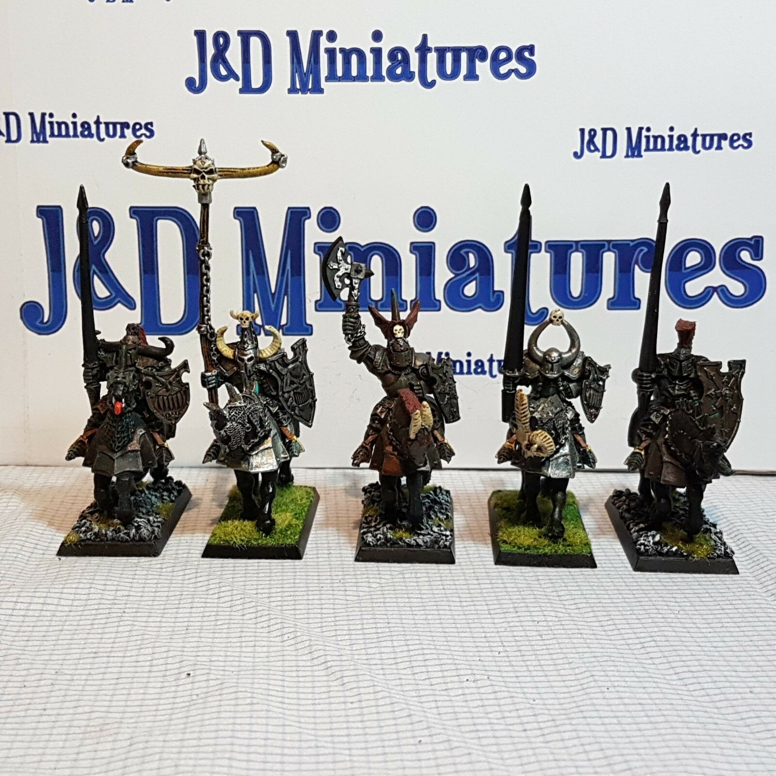 Games Workshop Warhammer Fantasy Battle Warriors of Chaos Knights Painted  Lot E