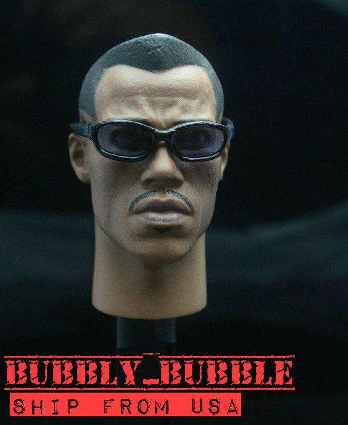 1 6 BLADE II Vampire Killer WESLEY SNIPE Head Sculpt For 12  HotToys Male Figure