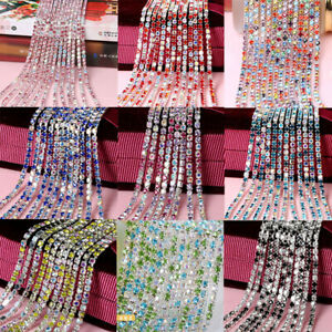 10Yard-Colorful-Crystal-Rhinestone-Close-Cup-Chain-Trim-Claw-Chain-Jewelry-Craft