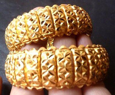 Gold Plated Indian party bangles All time wear Bala Churi Bracelet 12 pcs 2.8/'/'