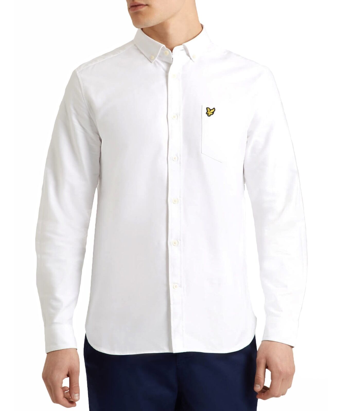 Lyle & Scott Cotton Oxford Shirt Regular Long Sleeve Button Down Collar White