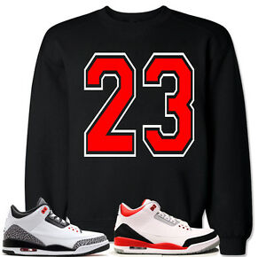 040844ecf77f46 23 Red Sweater to match with Air Jordan Retro 3 Fire Red Cement ...