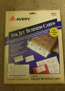 Avery ink jet printer business cards ebay image is loading avery ink jet printer business cards reheart Image collections