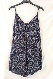 Ladies-H-amp-M-Circles-Pattern-Vest-Shorts-Summer-Jumpsuit-In-Size-Medium
