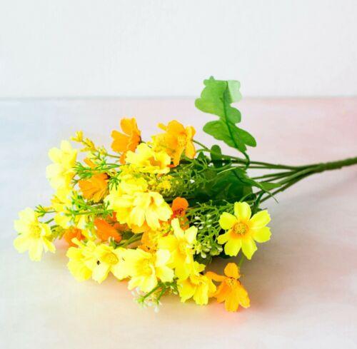 US Artificial Flower Garden Daisy Fake False Plants Grass Home Decor bouquet
