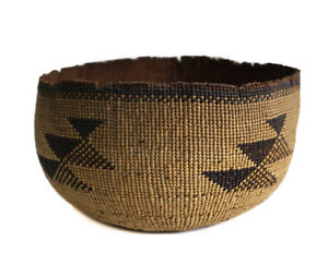 a6cf24c9fd4 Image is loading HUPA-KAROK-Karuk-Yurok-Basket-Hat-Early-Northwest-