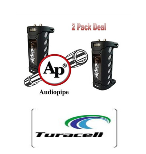 2 Pack Audiopipe ACAP-6000 6 Farad Digital Power Capacitor Car Audio Amplifier