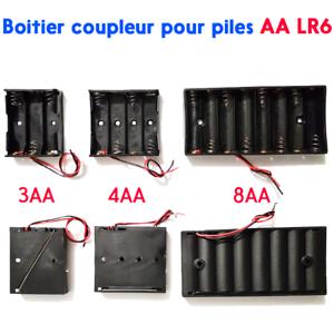 Boitier-coupleur-de-piles-AA-LR6-Accu-support-convertisseur-battery-holder-case