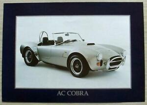 AC Cobra auto sportiva di vendita specifiche del produttore OPUSCOLO 1997 #COBRA 2P V03 09.01.97