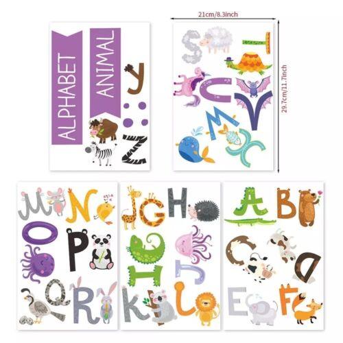 Kids Alphabet ABC Animal Wall Stickers Nursery Baby Room Decal Removable AU