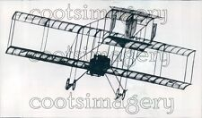 1964 Vintage 1910 Bristol Box Kite Plane in Flight Press Photo