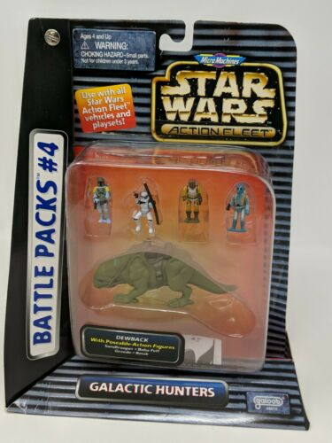 Star Wars Micro Machines Action Fleet Battle Pack #4 Dewback Fett Greedo Bossk