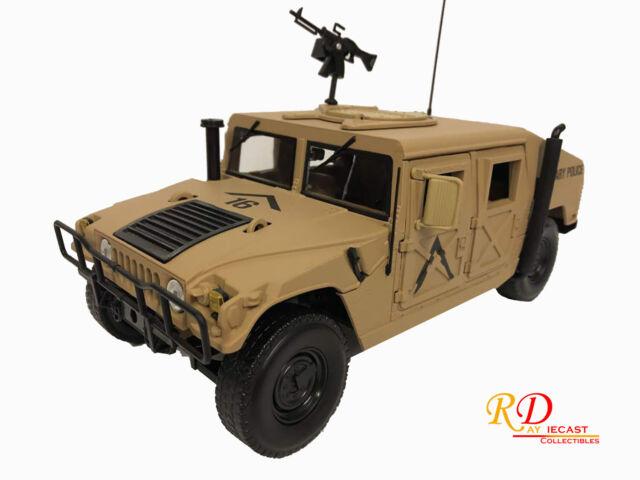 1984 Hummer Humvee R-2 Military Police Dessert Tan 1:18 Auto World AWML003B