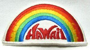 Vintage 1970s Hawaii Rainbow Patch Travel Souvenir Aloha Tropical Island Pride