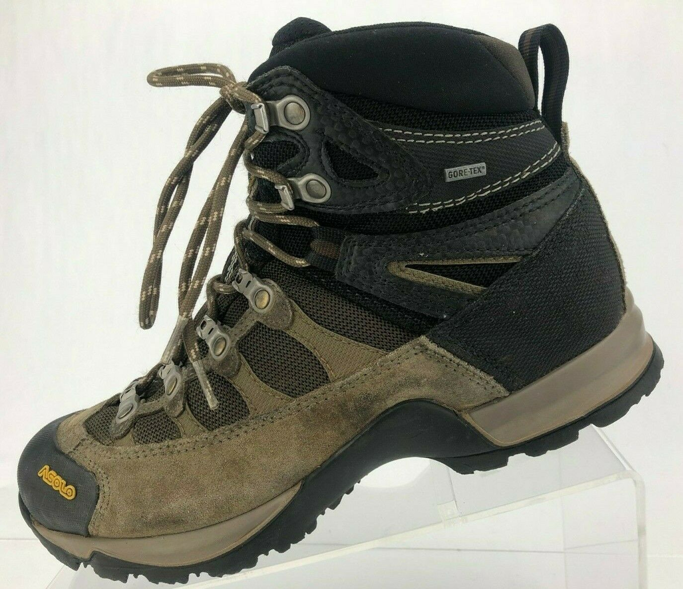Asolo Fugitive Gore Tex Ankle Boots Brown All Terrain Trail Hiking shoes  Wmns 7