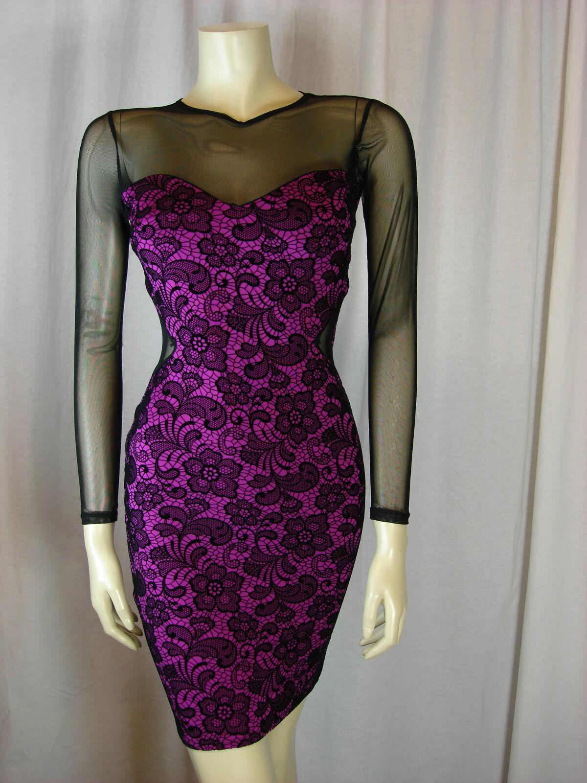Jane Norman Pink Mesh Bodycon Dress Sizes  8 10 12 14 16