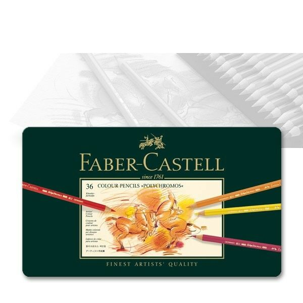 Polychromos Künstlerfarbstift, Faber-Castell 110036, 36er Metalletui   Jeder beschriebene Artikel ist verfügbar    Fuxin    Um Sowohl Die Qualität Der Zähigkeit Und Härte