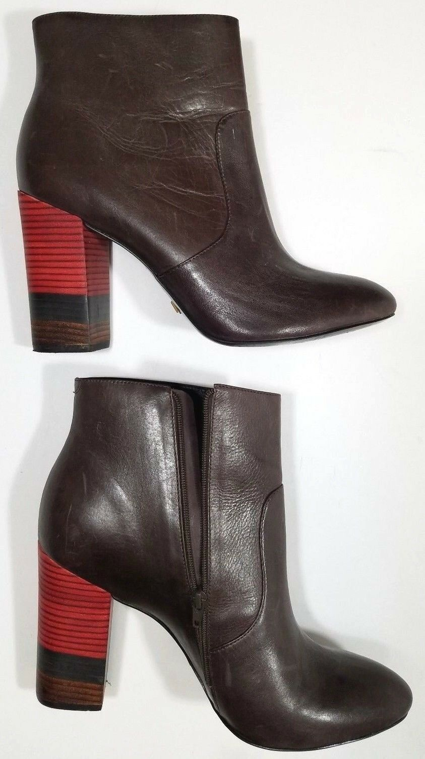Vicenza Anthropologie EU Booties Ankle Stiefel Farbe Stack Braun- EU Anthropologie 41/ US 10 dc81c7