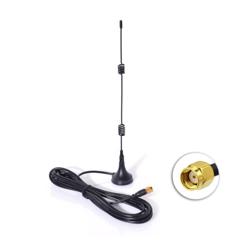 2.4GHz 7dBi Magnetic Base RP-SMA WiFi Antenna for WiFi Router Security IP Camera