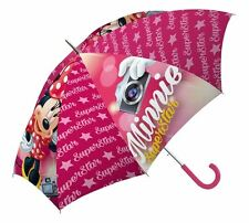 Childrens Pink 'Minnie Mouse Superstar' Umbrella Kids Brolly School Rain