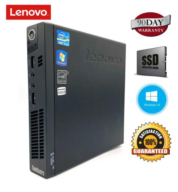 Lenovo M92p Tiny Mini Desktop i5 8GB/16GB RAM 128/512GB SSD/500GB HDD WIN10 PRO