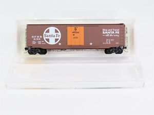 N-Scale-MTL-Micro-Trains-32050-2-SFRB-Santa-Fe-50-039-Standard-Box-Car-6160-RTR