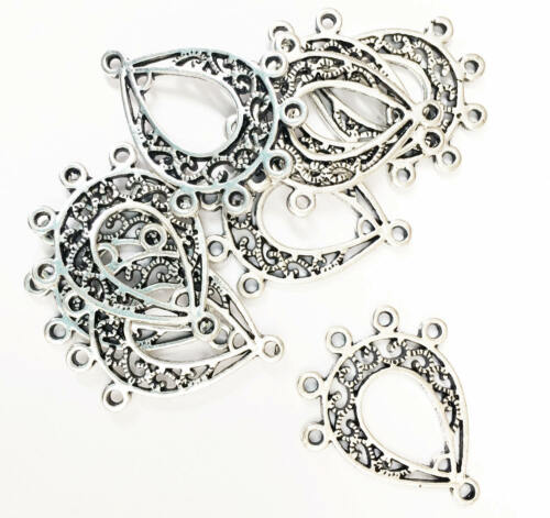 20 pcs Antique silver double sided Chandelier with 6 loops bulk connector