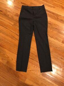 915f2bb9 Zara Basic Women's Gray Brown Navy Houndstooth Print Skinny Leg Pant ...