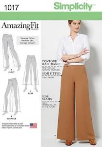 Simplicity-PATRON-COUTURE-FEMMES-039-Pantalons-jambe-largeur-Variations-6-22-1017