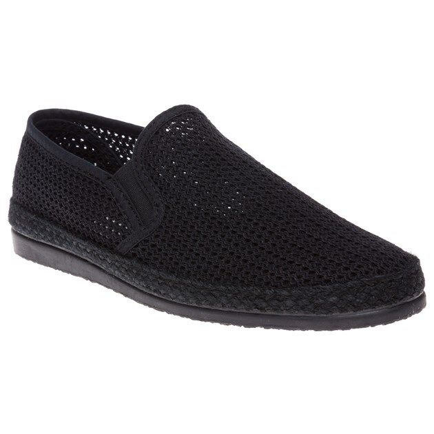 New Mens SOLE Black Buckly On Textile Shoes Espadrilles Slip On Buckly 5e69aa
