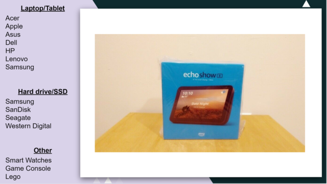 """Echo Show 8 1st Generation - HD 8"""" smart display with Alexa - Charcoal"""