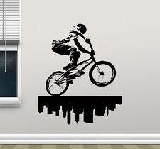 Bike Wall Decal BMX Bicycle Extreme Poster Vinyl Sticker Art Decor Mural 7thn